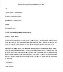 Personal Letter Of Recommendation Format Personal Letter Template Task List Templates