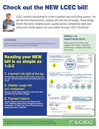 how to read my bill lcec lee county