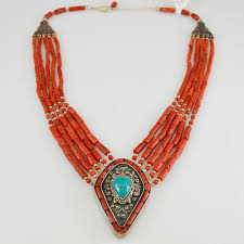 c choker turquoise sterling silver pendant necklace 925 orange semi precious stone natural stones handcrafted necklaces 1