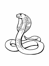 Snake Cobra Coloring Page For Kids