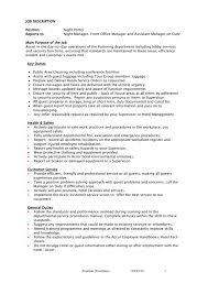 Job Description Non Managerial