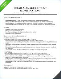 Retail Manager Resume Summary Beautiful Job Resume Objectives