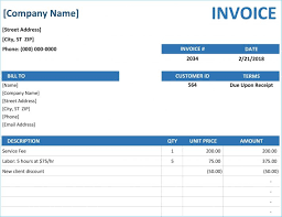 Excel Invoice Template Free Download For Mac Billing