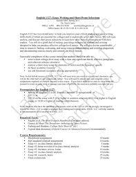 Short College Essay English 1127 Essay Writing And Short Prose