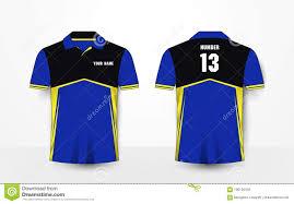 Yellow And Black T Shirt Designs Blue Yellow And Black Sport Football Kits Jersey T Shirt