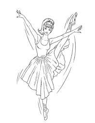 Ballerina Barbie Kleurplaat Gratis Kleurplaten Printen Ballerina