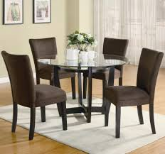 glass top round dining table. Entrancing Image Of Dining Room Decoration Using Elegant Round Table : Excellent Picture Small Glass Top