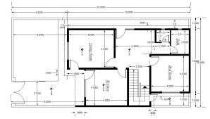 architectural house plan setting out detail 01