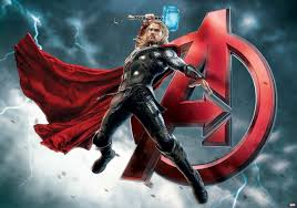 Marvel Avengers Thor Fotobehang Behang Bestel Nu Op Europostersnl