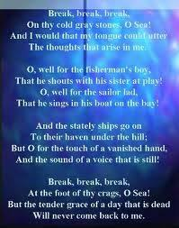 crossing the bar alfred lord tennyson products i love of this poem for a transition verse for and the stately ships go on to their haven under the hill from break break break by alfred lord tennyson