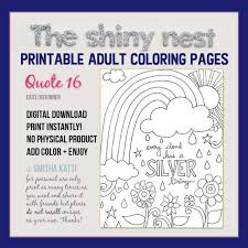 Surround yourself with inspiring quote coloring pages! Printable Coloring Pages Coloring Quotes Adult Colouring Etsy