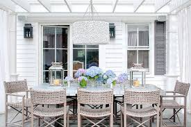 Pergola Over Zinc Top Dining Table And Gray Woven Dining Chairs Impressive Woven Dining Room Chairs