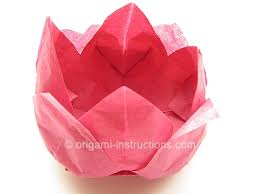 Folding Paper Flower Origami Tissue Lotus Folding Instructions Origami Napkin Lotus