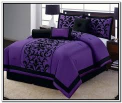 purple and black duvet cover