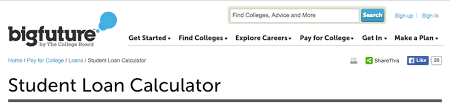 useful websites for college students student loan calculator was made by the college board to make it easier for college students to stay on top for their student loan payments