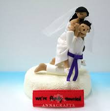 judo jiu jitsu custom wedding cake topper decoration gift