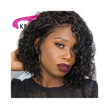 krn short curly lace front human hair wigs with baby hair 8 16 inch remy hair brazilian lace front wigs for women full end color 1 stretched length 8inches
