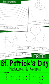 Another Word For Leprechaun St Patrick S Day Picture Word Tracing Printables Teaching