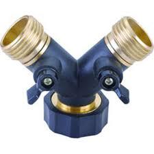 garden hose splitter. Garden Hose Splitter 2 Way Air Konektor Logam Laki-laki H
