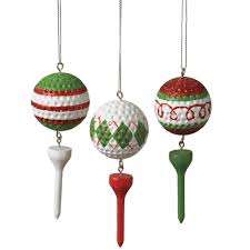 Golf Ball Decorations Golf Ball Tee Ornaments 16