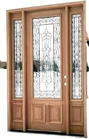 wooden front doors with glass front doors with glass panels wood front door with glass exterior