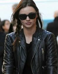 miranda kerr balenciaga quilted leather biker jacket 2