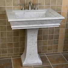 Marble pedestal sink White Carrara Alas Too Large For Our Small Powder Room Polished Carrara Marble Pedestal Sink 2000 Pinterest Alas Too Large For Our Small Powder Room Polished Carrara Marble