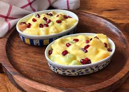 fruit salad with custard.  Custard Creamy And Delicious Fruit Custard Recipe Throughout Salad With S