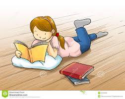 reading a book cartoon ilration