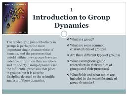 Ppt 1 Introduction To Group Dynamics Powerpoint Presentation Id