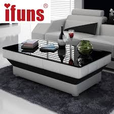 ifuns new design special coffee table tea for living room furniture white leather tables