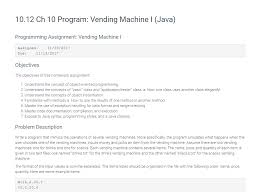 Vending Machine 4231 Gorgeous Solved NOTE VendingMachineDriverjava Doesn't Need Any E