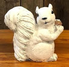 squirrel garden statue garden statue 7 handcrafted white concrete squirrel hand concrete squirrel garden statue