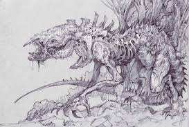 monster creature drawings. Brilliant Monster Dark Fantasy Evil Scary Creepy Spooky Art Drawing Monster Creature Fangs  Wallpaper Throughout Monster Creature Drawings