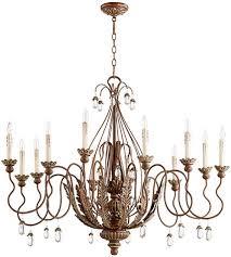 quorum 6344 12 39 venice traditional vintage copper chandelier light loading zoom