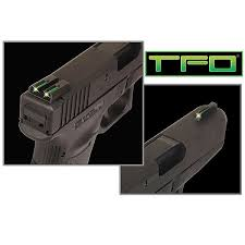 truglo tfo tritium fiber optic day night sights fit ruger lc9 9s 380 front green rear green natchez