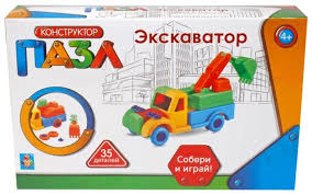 <b>Конструктор 1 TOY</b> Пазл Т59944 Экскаватор — купить по ...