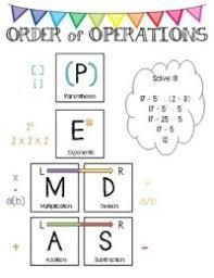 Pemdas Anchor Chart Pdf 25 Best Ideas About Order Of