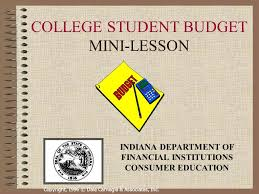 how to budget as a college student college student budget mini lesson ppt video online download