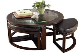 kenny design coffee table wooden coffee table with stools underneath image 3 of 10