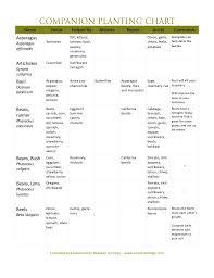 Companion Planting Guide Jeremiah Ridge Chilton County