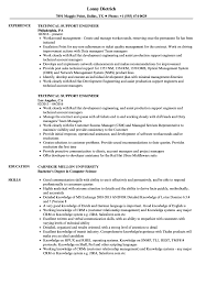 Technical Support Engineer Resume Samples Velvet Jobs