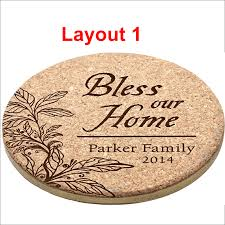 Custom cork coasters Round Cork Cork Coaster 4allpromos Cork Coaster Points Custom Laser Engraving