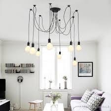 ceiling pendant led light led chandelier pendant lighting holder group edison diy lighting lamps lanterns accessories messenger wire pendant light fixture