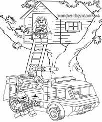 Lego Tree House Coloring Pages To Download Coloring For Kids 2019