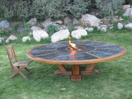custom made 9 round table with fire pit in the middle