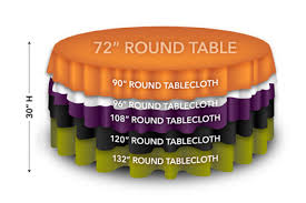 72 round tables displaying drops