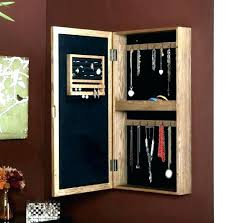wall mount jewelry armoire mirror. Wall Mirror Jewelry Cabinet Lighted Plaza Mounted Jewellery With Black . Mount Armoire