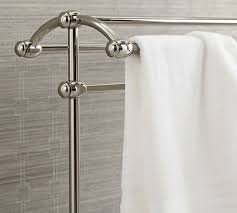 brushed nickel towel stand. Roll Over Image To Zoom. Mercer Towel Stand, Polished Nickel Finish Brushed Stand A