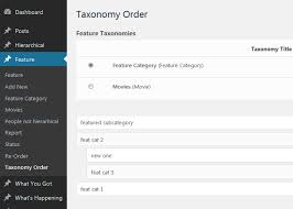 Category Order and Taxonomy Terms Order | WordPress.org